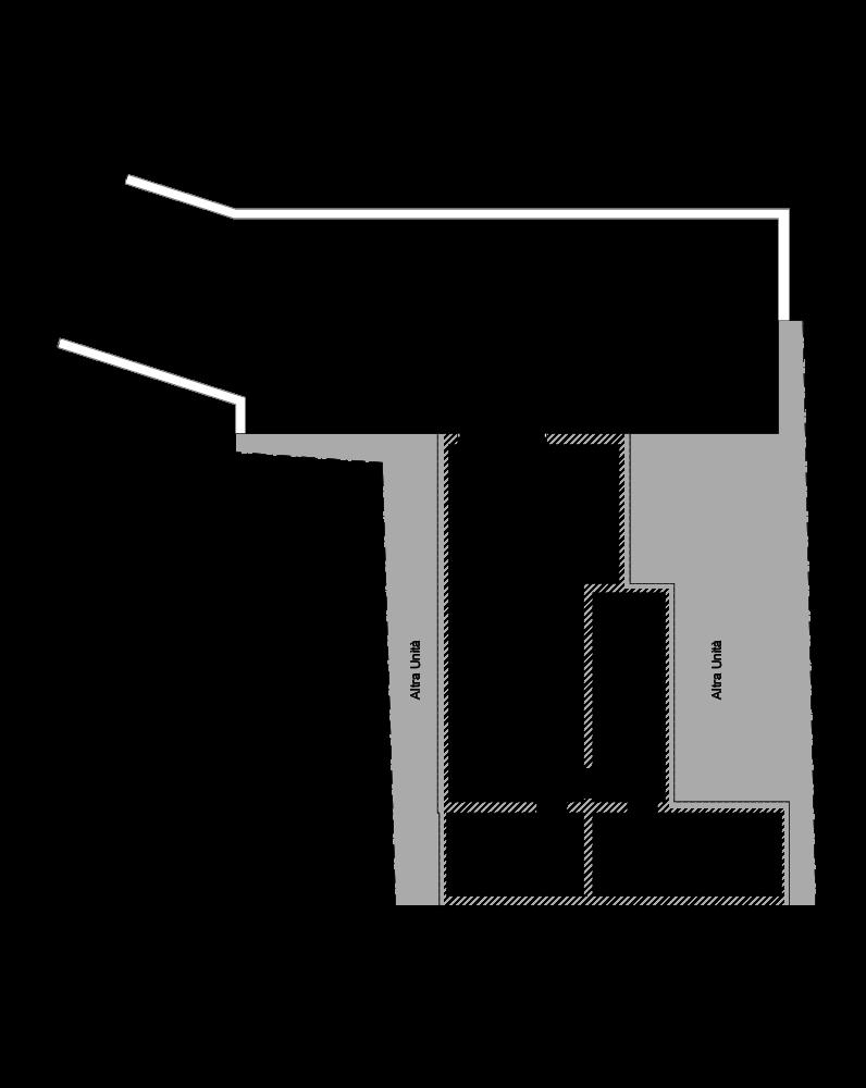 Piano interrato con planimetria
